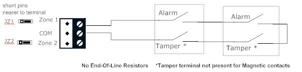 security system basics comfort installation instructions on Power Supply Wiring for the diagram shows 2 sensors in series the tamper connections are shown for pirs and detectors tamper connections are usually not present for magnetic door at Fire Alarm Circuit Wiring