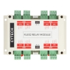Relay Module with 8 Relays in DIN Rail Enclosure