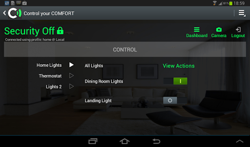 Comfort 2nd Generation Android App for Tablet and Phone